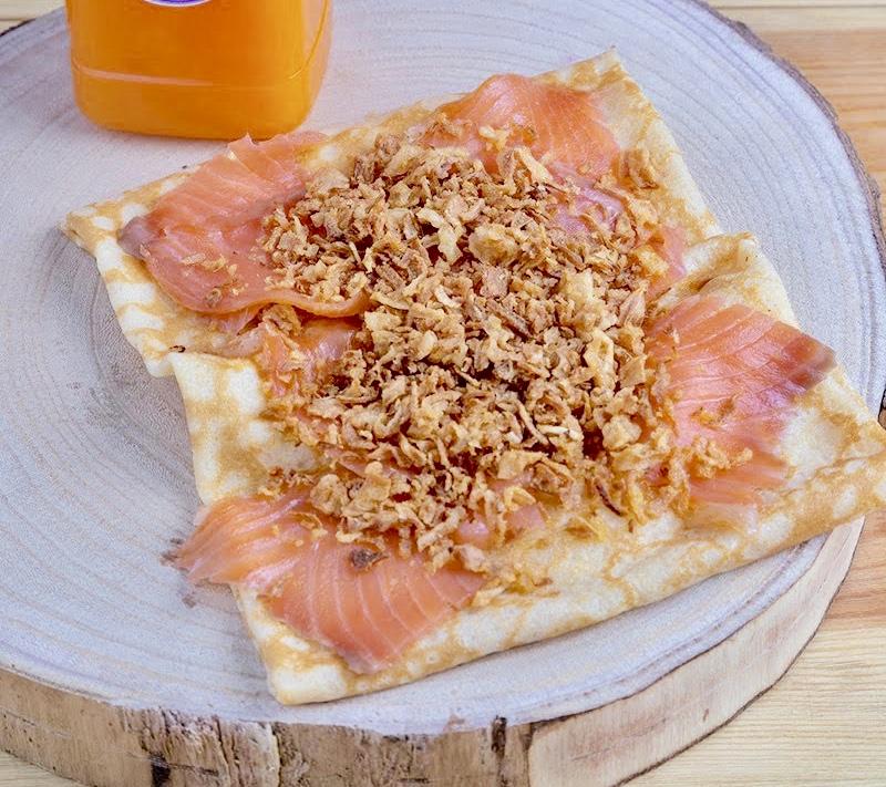 Crepe Salmon & Brie